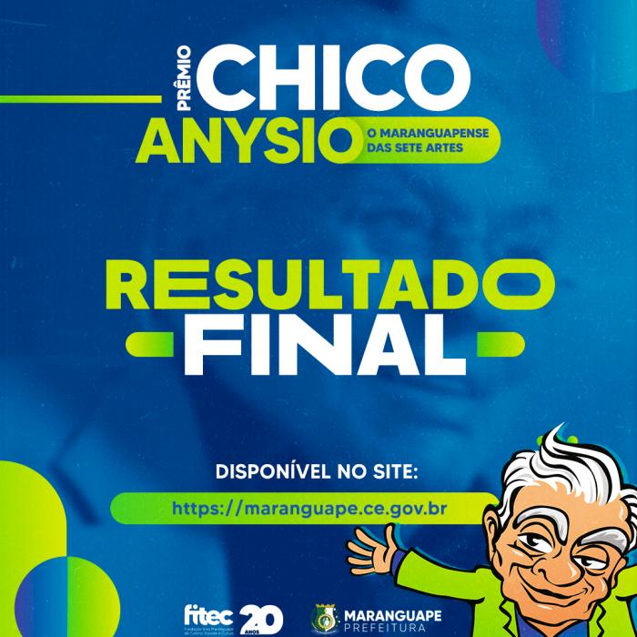 PRÊMIO CHICO ANYSIO O MARANGUAPENSE DAS SETE ARTES